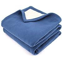 bleu petrole couvertures plaids et boutis linge de lit et oreillers cuisine. Black Bedroom Furniture Sets. Home Design Ideas