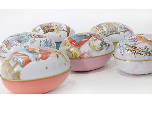 Coniglietto di pasqua, colorato riempibile in plastica, uova di pasqua, da riempire con regali per la caccia di pasqua e caramelle al cioccolato (6 pezzi)