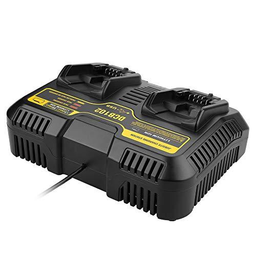 Alician haltbare Batterie Li-Ion-Ladegerät mit 10,8 V-20 V Dual Port für Dewalt DCB102 DCB112 Europäische Regulierung Li-ionen Dual-port