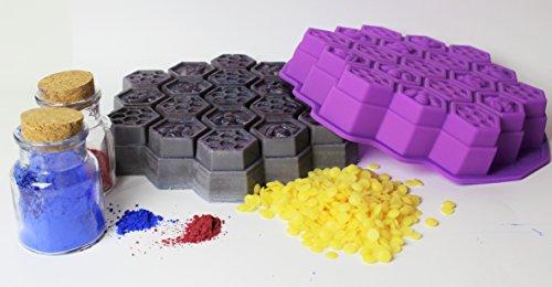 unitedcovers-seifegiessform-honigwaben-mit-19-waben-honeycombs-silicone-mold-violett-eine-form-versa