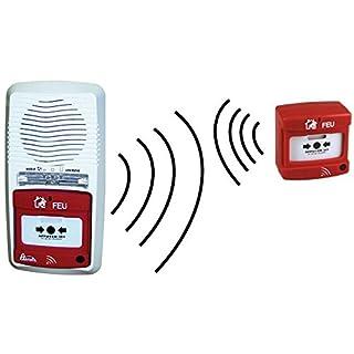 Pack Alarm Radio Typ 4A Batterien Kabellos + declencheur Handbuch kabellos