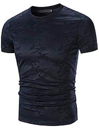 e1ca09141b Camiseta para Hombre Informal para Hombre Camuflaje Camiseta con Ropa  Festiva Cuello En V O Cuello