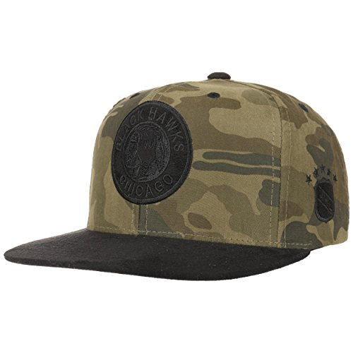 Mitchell & Ness Camo Blackhawks Cap NHL Basecap Chicago Baseballcap Kappe Snapback Flatbrim Basecap Cap Snapback Cap Snapback