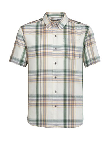 Icebreaker Herren Kompass leicht SS Shirt Tops L Bracken/Scout/plaid (Sleeve Plaid Top Short)