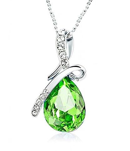Celebrity Jewellery Olive Vert Swarovski Elements Cristal Goutte d