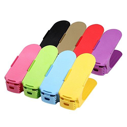 Verstellbarer Schuhstapler / Schuhhalter - Sparset für 8 Paar Schuhe, Farbe:bunt
