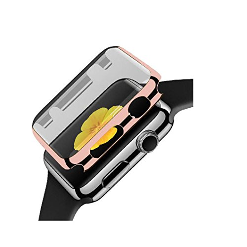 Case Sharp Crystal (Ouneed Für Apple Watch 42mm Series 1 Hülle, Ultra-Slim TPU Hülle Schutzhülle Crystal Case Durchsichtig Klar Silikon for Apple Watch Series 1 42mm (Roségold))