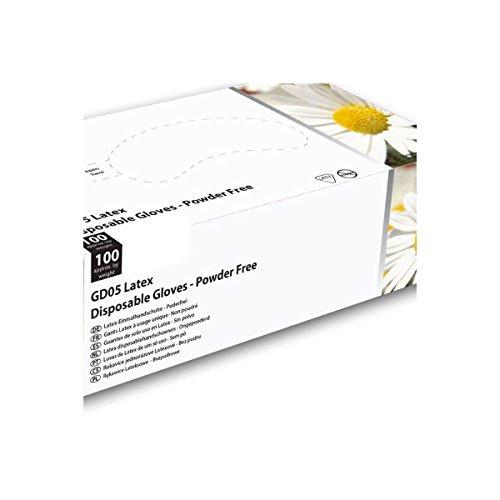 Guanti in lattice Blanc Shield, confezione da 100 guanti senza polvere, Gd05
