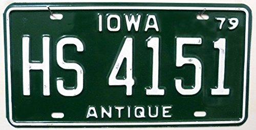 US - Nummernschild Iowa Nummernschilder