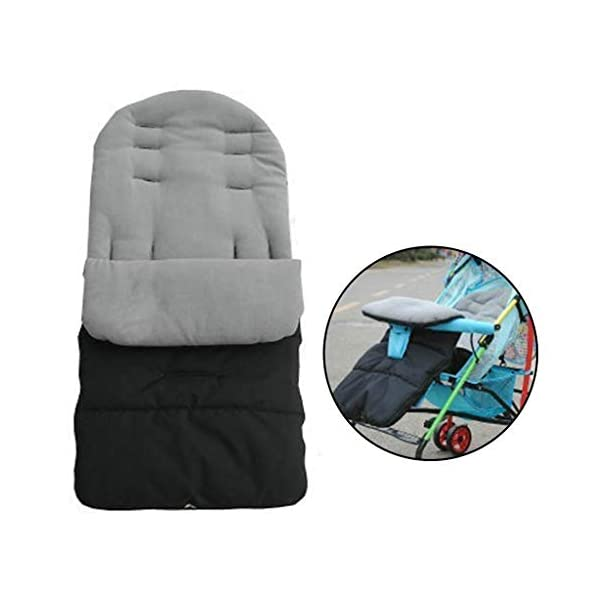 DENGHENG Multi-Function Baby Stroller Sleeping Bag Children Kids Trolley Thickened Swaddl DENGHENG ❤ Baby carriage sleeping bag, Multi-functional universal stroller sleeping bag. ❤ Made of high quality oxford and fleece, it is warm, windproof and waterproof. ❤ Removable, easy to clean, adjustable, adjust the position according to your baby's length. 9