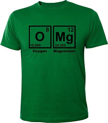 Mister Merchandise Witziges Herren Männer T-Shirt OMG OMG! Nerd Chemie Periodentafel , Größe: L, Farbe: Grün