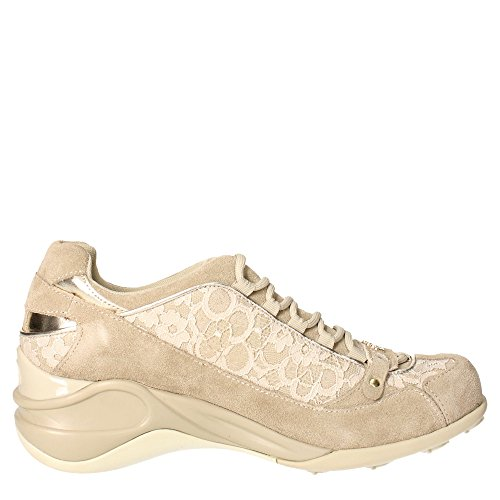 Fornarina PEFSE8922WV8700 Sneakers Femme Suède/tissu Marron Taupe Braun Taupe