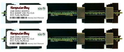 KOMPUTERBAY 4 GB 2 x 2 GB, 240 Pin, Fb-Dimm, Apple, DDR2 PC2-6400, CL = 5, Voll Gepuffert, ECC, DDR2, 1,8 V, 256 Meg x 72) -