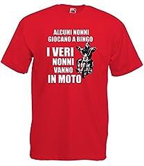 Idea Regalo - Settantallora - T-Shirt Maglietta J501 I Veri Nonni Vanno in Moto Taglia L