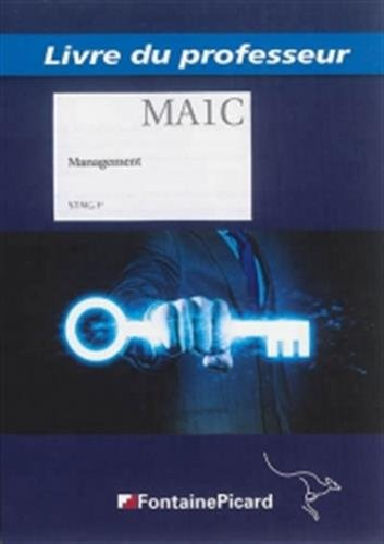 Livre du professeur MA1C management STMG 1re