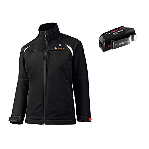 Bosch Professional Beheizbare Jacke GHJ 12+18V Unisex (ohne Akku, 12/18 Volt, Schwarz, Größe XS, im Karton)