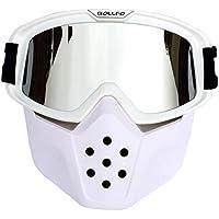 Máscara Táctica, Foxom Paintball Máscara con Gafas de Extraíble, máscara de Airsoft Protección Para Nerf, Tipo 3