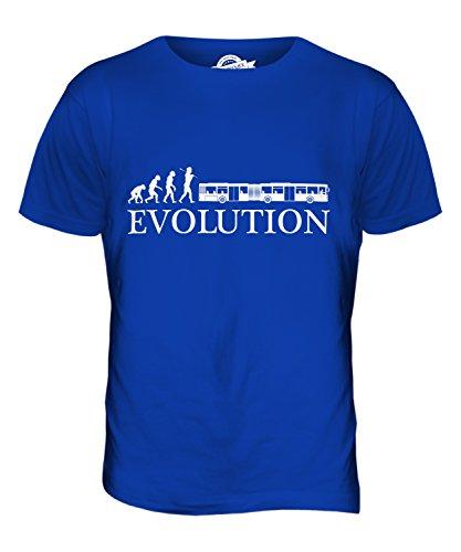 CandyMix Autosnodato Evoluzione Umana T-Shirt da Uomo Maglietta Blu Royal