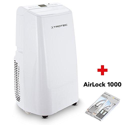 TROTEC Lokales mobiles Klimagerät Klimaanlage PAC 3500 E mit 3,5 kW / 12.000 Btu Inkl. Tür- und Fensterabdichtung AirLock 1000