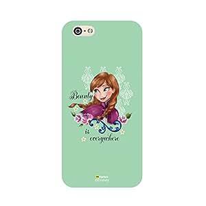 Hamee Disney Princess Frozen Official Licensed Designer Cover Hard Back Case for iPhone 5 / 5s / SE / 5SE (Anna / Green Beauty)