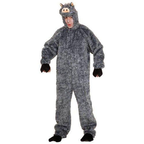 Waschbär Schwanz Kostüm - Wildschwein - Overall, Erwachsenen-Größe:54 - 58