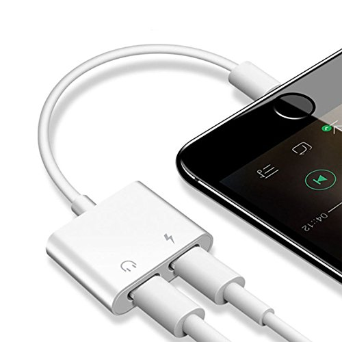 THYTOB _STRSRT8114_2 en 1 Adaptateur Lightning pour Apple iPhone X, iPhone 8/8 Plus.iPhone 7/7 Plus pour iOS 10.3/11_Noir