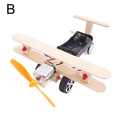 Vektenxi Premium Qualität DIY Montage handgemachte Flugzeuge wissenschaftliches Experiment Kinder pädagogisches Spielzeug B