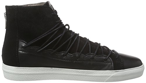 Hudson London BERGOT, Damen Hohe Sneakers Schwarz (Black)