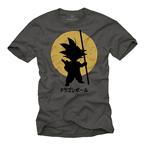 Camiseta Son Goku - Dragon Ball - Gris XL
