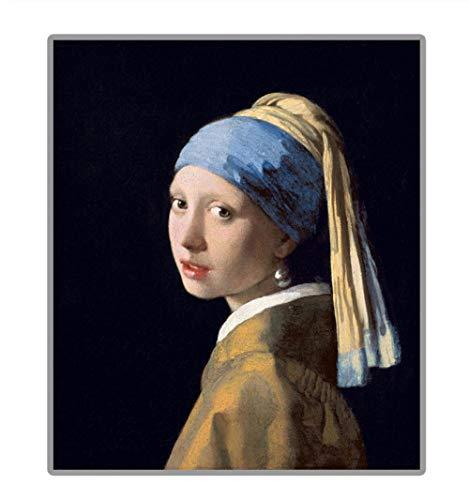 Famoso dipinto'La ragazza con l'orecchino di perla' 5D Pittura diamante fai-da-te Immagine piena di diamanti con strass ricamo rotondo@70 × 83CM