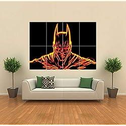 FRACTAL LIGHT ART BATMAN ORANGE GIANT WALL ART PRINT PICTURE AFICHE CARTEL IMPRIMIR CARTELLO POSTER G1166