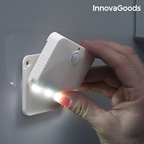 InnovaGoods LED Bewegungsmelder, Weiß