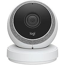 Logitech Circle, die batteriebetriebene kabellose Sicherheitskamera (mit 1080p-Videoqualität sowie Personenerkennung, Bewegungszonen und benutzerdefinierten Benachrichtigungen) weiß