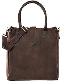 LEABAGS Whyalla sac à main rétro-vintage en véritable cuir de buffle