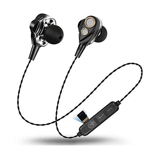 KOBWA 4 Altavoces Doble Movimiento Anillo 6D Surround Wireless Bluetooth Headset 4.1...