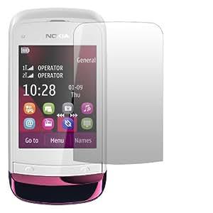 2 x Slabo Displayschutzfolie Nokia C2-03   Nokia C2-03 Touch And Type Displayschutz Schutzfolie Folie Crystal Clear unsichtbar MADE IN GERMANY