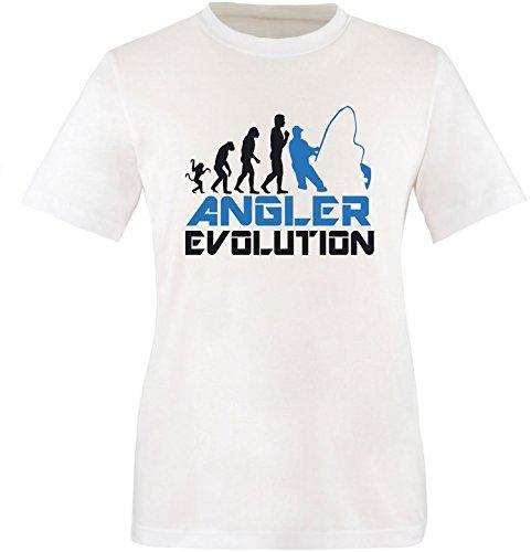 EZYshirt® Angler Evolution Herren Rundhals T-Shirt Weiss/Schwarz/Blau