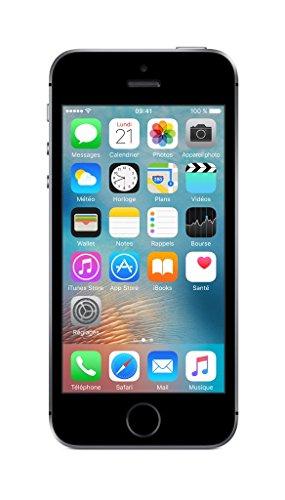 Apple iphone SE Smartphone Débloqué 4G (Ecran: 4 pouces - 64Go - Carte Nano SIM - iOS) Space Grey (Import Europe)