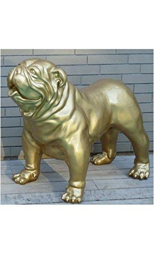 Dekofigur Bulldogge Englisch gold glänzend