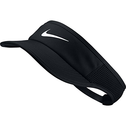Nike Damen Arobill Featherlight Visor Adjusted Visier, Black/White, One Size