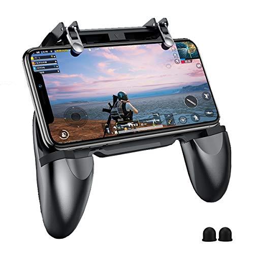 PUBG Mobile Game Controller - BESTZY Controlador Móvil Gamepad Joystick Soporte para teléfono, Puntería y Disparo Altamente Sensibles para PUBG / Fortnite / Knives Out, 4.5in-6.5in