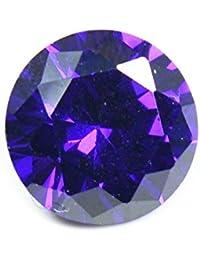 55Carat Cubic Zircon Stone 5 Ratti Certified Round Jarkan Loose Gemstone Dark Purple