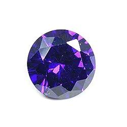 55Carat Cubic Zircon Stone 6.5 Ratti Round Jarkan Loose Gemstone Dark Purple