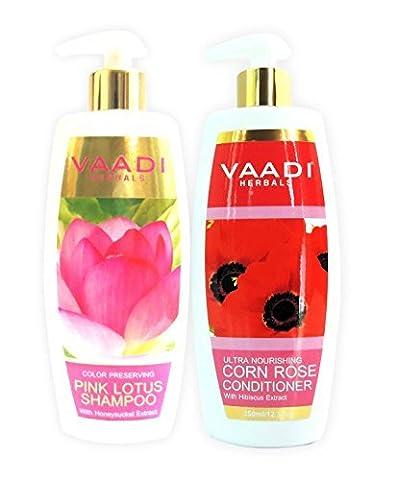 Vaadi Herbals Lotus Mit Honeysuckle Shampoo Und Mais Rose Anlage-Farb Erhaltung Shampoo- Alle Natur Paraben Free- Sulfate Free- Scalp Therapie- Moisture Therapy