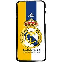 Funda carcasa para móvil escudo real madrid club de futbol compatible con Samsung Galaxy J3 (2015 y 2016)