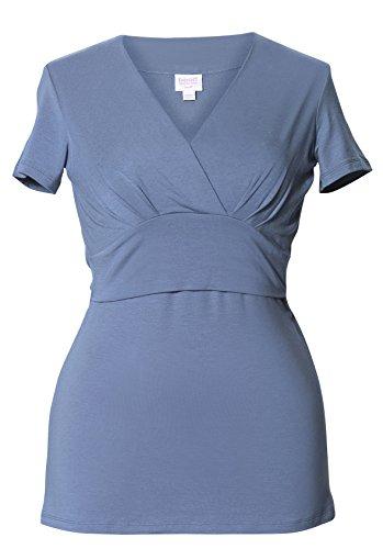 Boob design 2 en 1 ® stillshirt umstandstop «sophia «manches courtes, blue steel Bleu - steel blue (hellblau)
