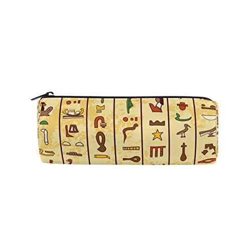 coosun Antike Ägyptische Hieroglyphen Bleistift Fall Zylinder Form Stift Stationery Tasche Bag Kosmetik Make-up Tasche (Ägyptische Baumwolle Spielzeug Tasche)