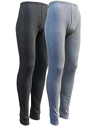 sockenhimmel 2 Lange Thermo- Funktions- Unterhosen für Herren - Sport- und Arbeits-Unterhosen mit Eingriff
