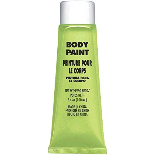 Amscan Party Ready Team Spirit Glow in The Dark Body Paint, Neon Green, 8.5 x 4