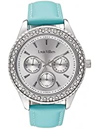 Reloj mujer Louis Villiers en acero blanco 41 mm lv2080